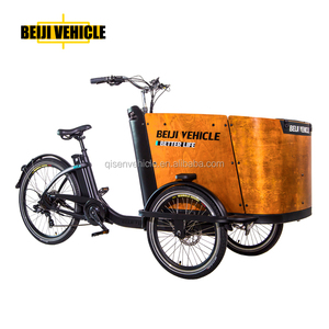 cargo bike electric 3 wheel bicycle bakfiet