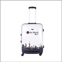 2016 new product pc hard colorful print duffle trolley luggage 2pcs trolley luggage set