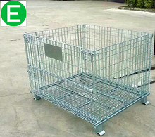 Customized welded steel lockable pallet storage cage