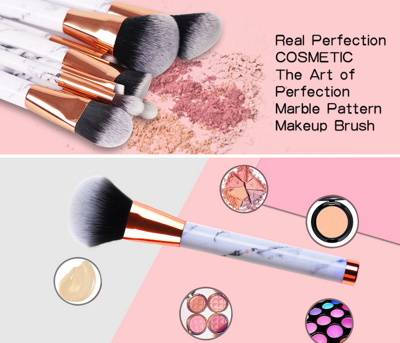 Sofeel Factory OEM Cosmetic High Quality Private Label Marble Makeup Brush
