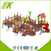 2015 top quality,hot sale,daycare wooden outdoor playground equipment KP-005A