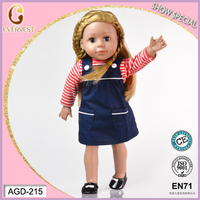 Brown eyes 18 inch american girl doll prototype manufacturers