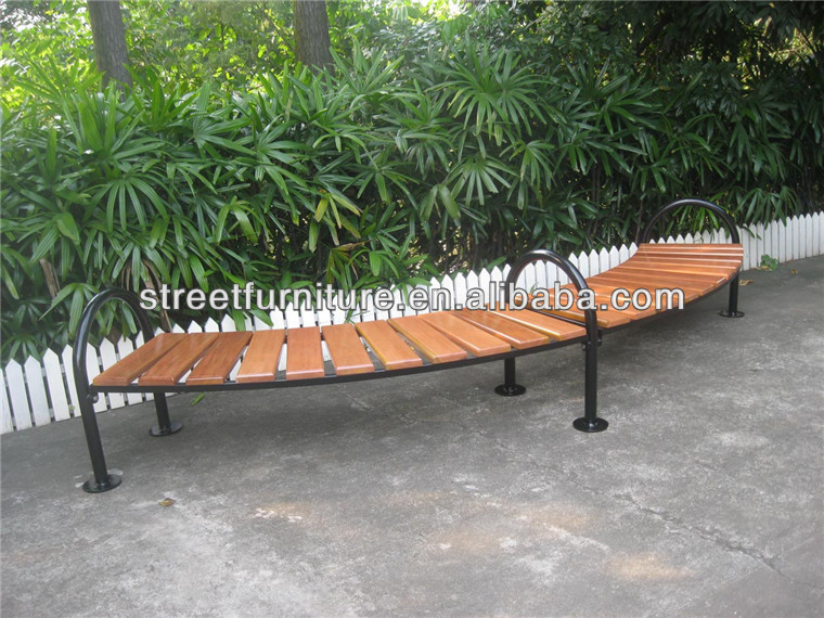Imported camphor wood outdoor long wood bench Chinese wholesale furniture