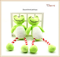 New Design Cute Squeaker Pet Dog Toys Plush Crazy Green Frog Dog Toy