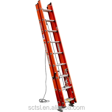 High quality 2 section 6M telescopic fiberglass extension ladder for sale