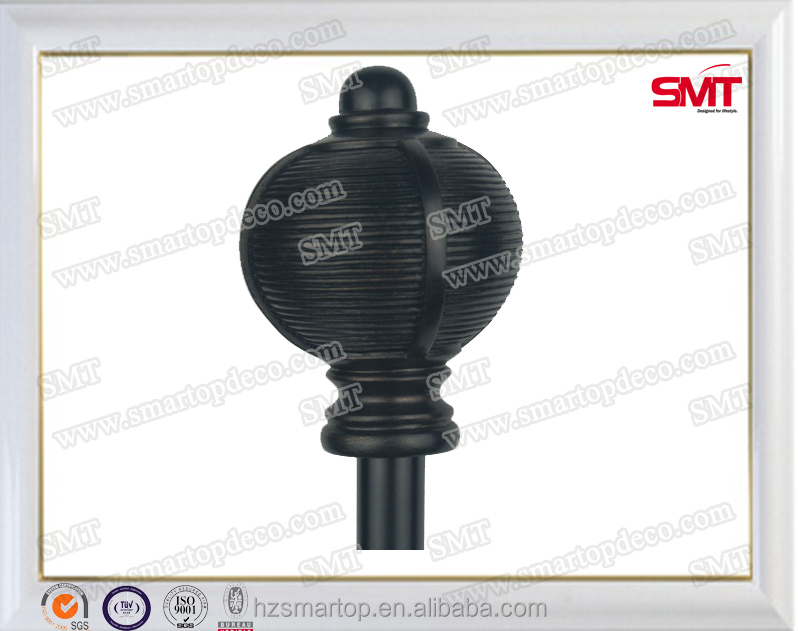 Retro black ball curtain poles/rod,home decorative curtain rod