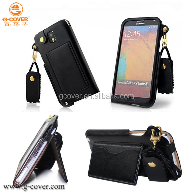 most popular factory price high quality pu leather case for samsung galaxy note 3