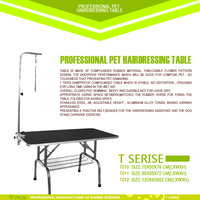 3 size stable portable dog grooming table