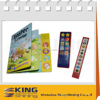 electronic children's voice button book with sound pad
