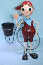 bicyle girl, metal home & garden,miniature garden decoration
