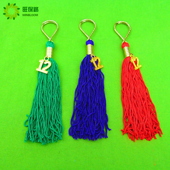 10cm multicolored dacron tassel with jump ring fringe