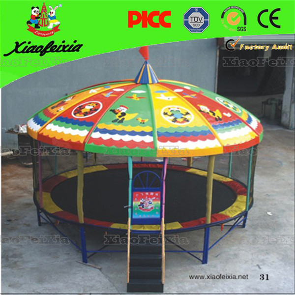 cheap kids used square gymnastic round outdoor trampoline for sale