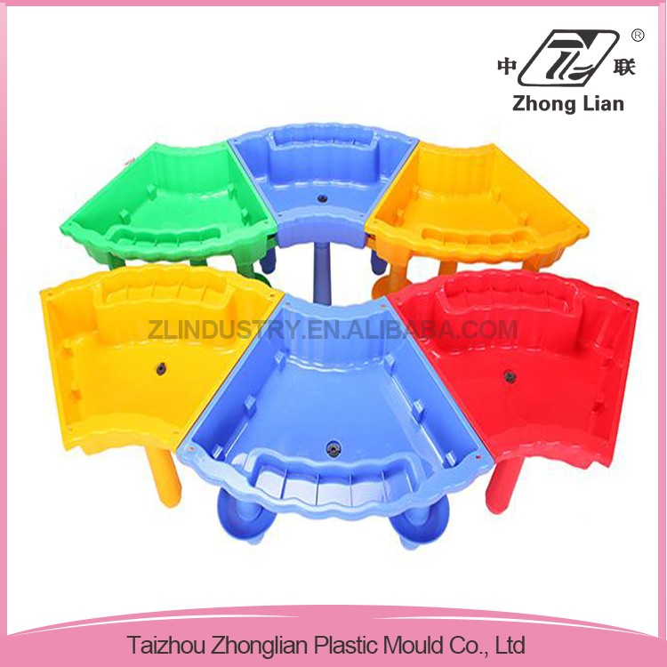 Assembly children colorful plastic sand and water table/sandbox