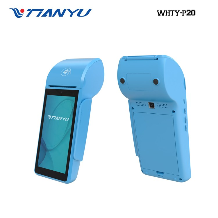 Touch screen pos android with thermal printer,barcode scanner,NFC reader