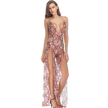 Indian New Long Party Beaded Evening Open Breast Sexy Dresses