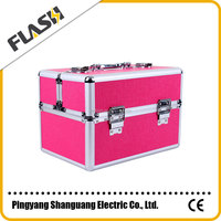 Hard Frame Jewelry Packaging Box Aluminum Luxurious Cosmetic Box
