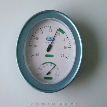 Classical Blue In-outdoor Thermometer and Hygrometer