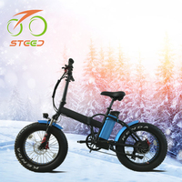 20 inch fat tire foldable snow 500w motor electric bicycle bike