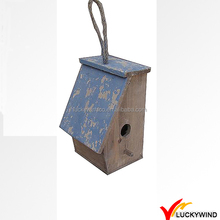 Cottage Charming Wooden Antique Hanging Birdhouse