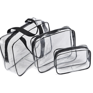 Best price custom travel toiletry bag new design clear Fashion newest handle PVC promotional lady pvc cosmetic zipper bag