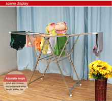 Stainless steel balcony clothes laundry hanger drying rack