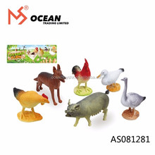 Hot sale plastic chicken duck goose poultry farm pig dog animal toy