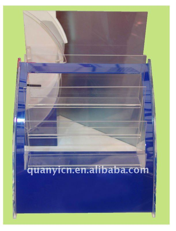 Customized acrylic business card display rack