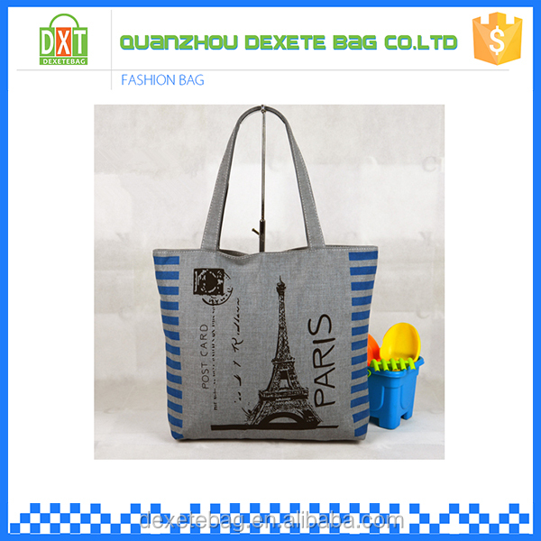Hot sale sport fashion customized vintage canvas tote bag blank