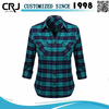 Custom 100% Cotton Solid Color Flannel Shirt for Women