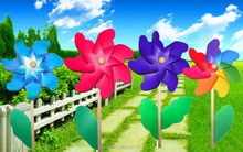 taizhou plastic flower colored pinwheels garden wind spinner <strong>windmill</strong>