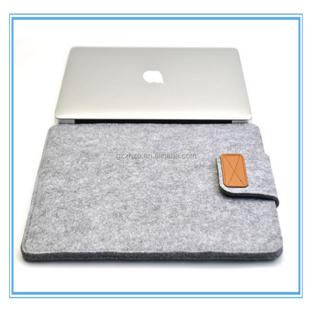 Hot selling wool felt laptop sleeve computer bag laptop sleeve for Macbook air pro