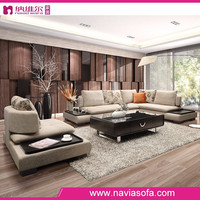 Hot sale cheap italian style comfortable modern design living room fabric sofa set