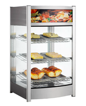 97L Glass Food Warmer Display Showcase Bakery Egg Tart Display Counter Fried Chicken Food Display Warmers