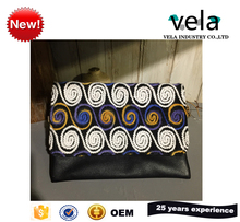 2017 Ethnic Trend Embroidery PU Material Indian Clutch Purse Bag