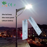 Integrated solar light, widely used in garden, park, street power are 8W to 60W, easy to install