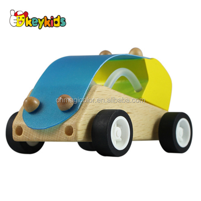 wholesale funny new wooden car toy best gift for children wooden small car toy beautiful wooden car toy W04A045
