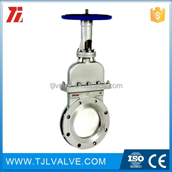 class150/pn10/pn16 flange type reiss <strong>10</strong> in pneumatic stainless flanged knife gate valve b442815 good quality good price