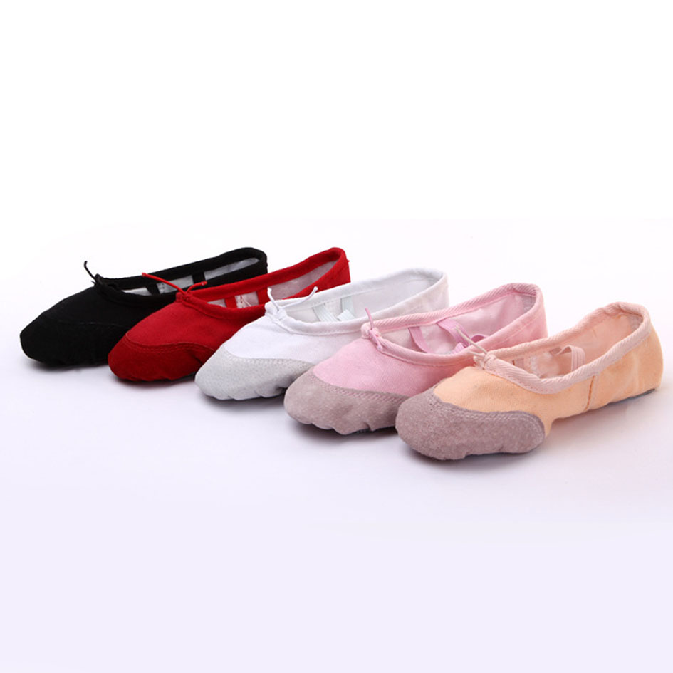 Canvas Soft Women Ballet Dance Shoes Slip on Ballet Flats Shoes For Ladies Ballerinas
