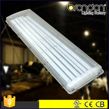 LED Professional high bright 100% UV stabilized polycarbonate waterproof housing ip65 tri-proof light fixture