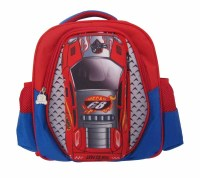 sporty racing car designer kids Trains, Planes and Trucks backpack for school