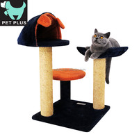 Eco-friendly cat tree plush bed with sisal material furniture for cat