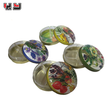 custom 7 days metal round pill box wholesale