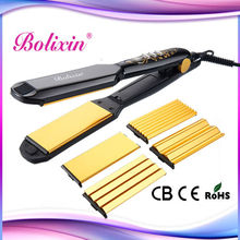 4 in 1 changeable plates muti-function royale hair straightener