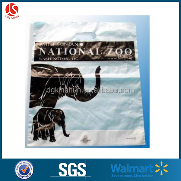Plastic package zoo elephant print bags animal protect propaganda environmental items