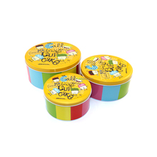 High quality free charge sample custom round cookie tin