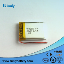 OEM akku li-polymer battery 3.7v 470mah li polymer battery 582535 for automobile data recorder