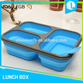 Anti-slip silicone material three compartment food container