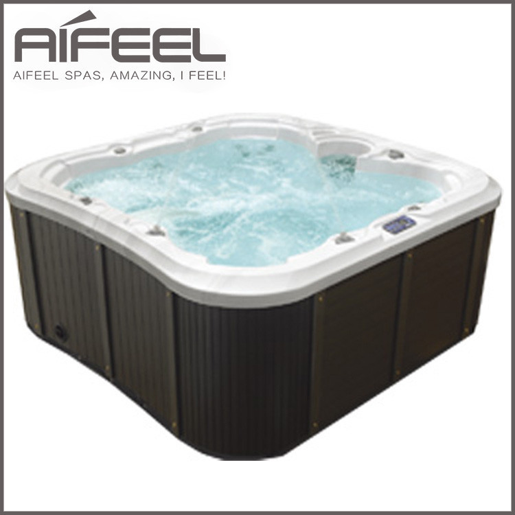 outdoor indoor freestanding acrylic 7 person whirlpool balboa control system balcony soaking hot. Black Bedroom Furniture Sets. Home Design Ideas