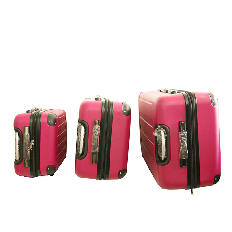 Pink ladies 20 / 24 / 28 inch ABS luggage trolley suitcase