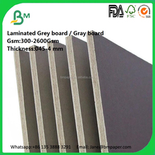 cheap price 2.5mm 3mm laminated grey chipboard for book cover